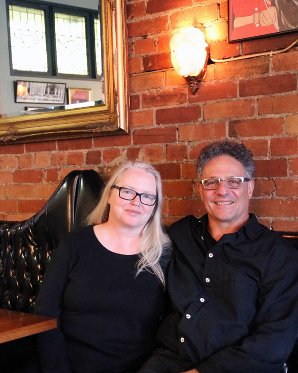 Kelly and Andre, owners of the Queen Mother Café