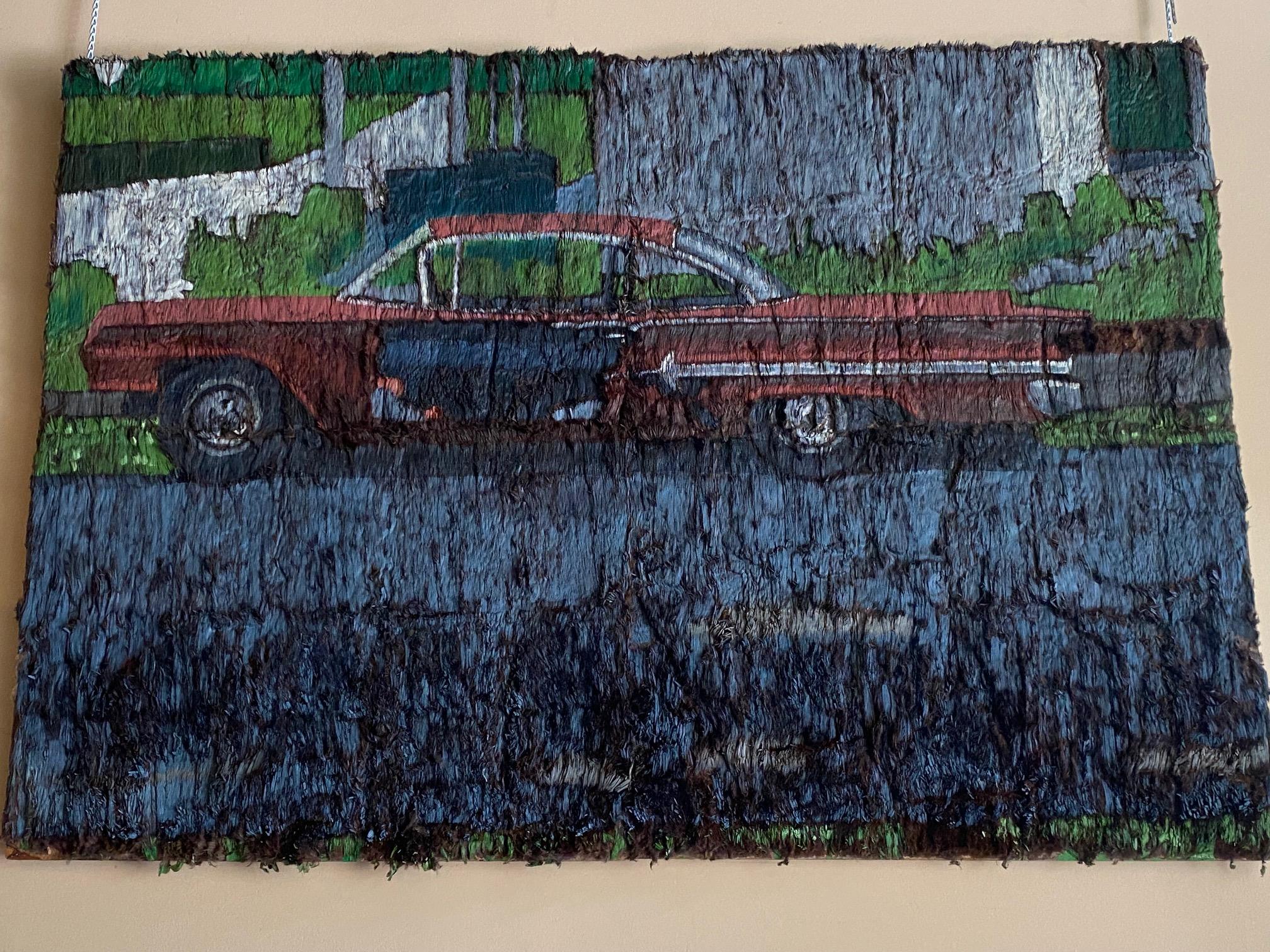 Artwork of a classic car